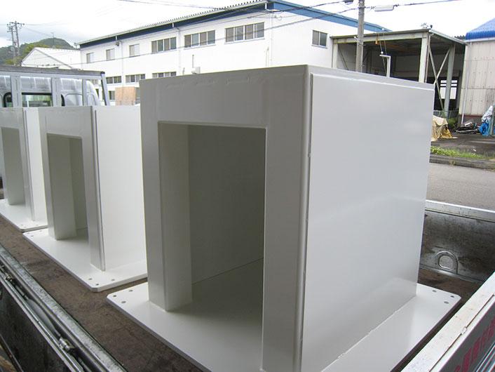 機械塗装 ロボット架台塗装