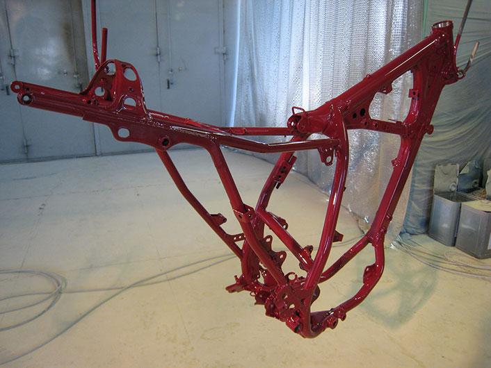 バイクフレーム塗装 色:RAL3001