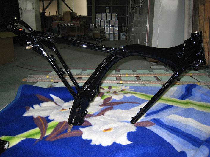 バイクフレーム塗装 黒