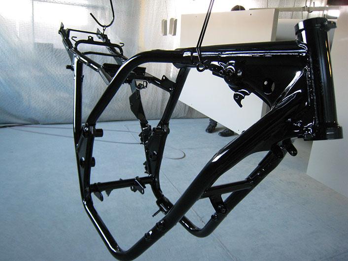 バイクフレーム塗装